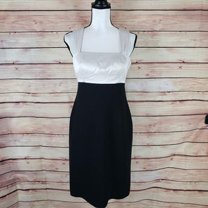 Evan Picone Black And Ivory Cocktail Dress